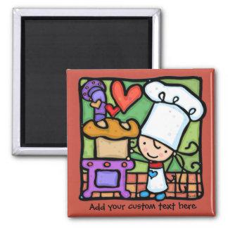 Les amours de LittleGirlie pour faire le pain cuir Aimants