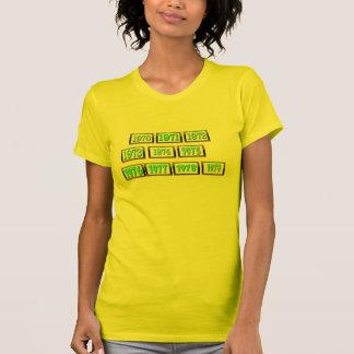 les années 1970 t shirts