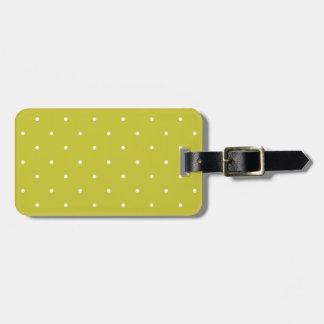 Les années '50 dénomment le point de polka de vert étiquettes bagages