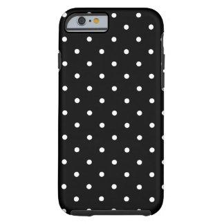 Les années '50 dénomment le point de polka noir et coque iPhone 6 tough