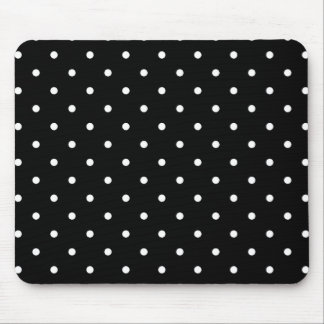 Les années '50 dénomment le point de polka noir et tapis de souris
