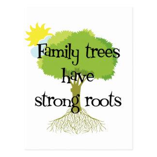 Les arbres généalogiques ont les racines fortes cartes postales