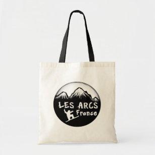 Les Arcs France artistic skier Tote Bag