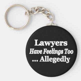Les avocats ont des sentiments trop… allégué porte-clé rond