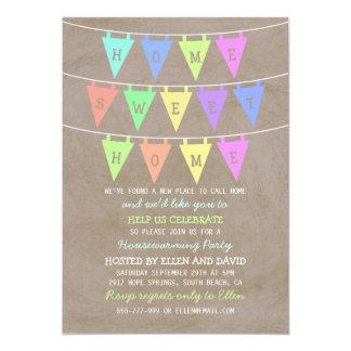 Les bannières mignonnes d'étamine autoguident la carton d'invitation  12,7 cm x 17,78 cm