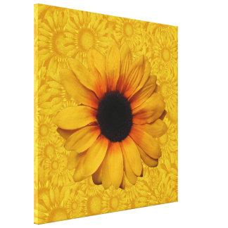 Les beaux tournesols jaunes ont enveloppé la toile toiles tendues sur châssis