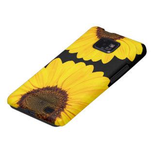 Les beaux tournesols jaunes Samsung floral Galaxy SII Case
