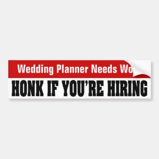 Les besoins de wedding planner fonctionnent - corn adhésifs pour voiture