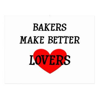 Les boulangers font de meilleurs amants cartes postales