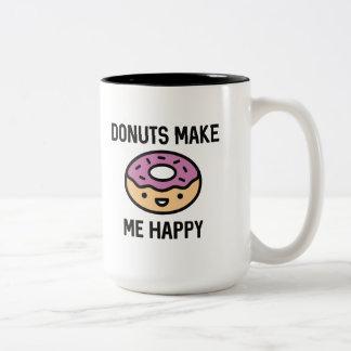 Les butées toriques me rendent heureux mug bicolore