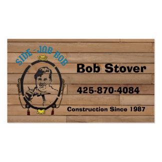 Les cartes de visite de Bob latéral du travail Cartes De Visite Personnelles