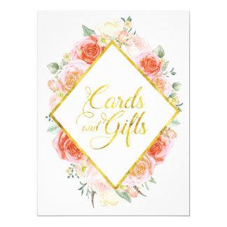 Les cartes et les cadeaux élégants ajournent le carton d'invitation  16,51 cm x 22,22 cm