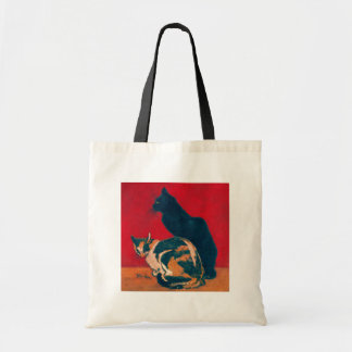 Les Chats by Theophile Steinlen Canvas Bags