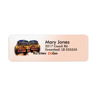 Les chauffeurs de bus s'inquiètent étiquettes d'adresse retour