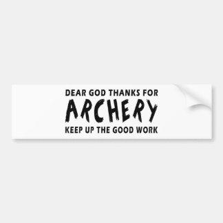 Les chers mercis de Dieu du tir à l'arc maintienne Autocollant De Voiture