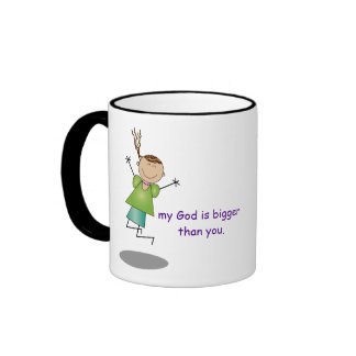 """Les """"chers problèmes, mon Dieu est plus grand que Tasse À Café"""