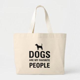 Les chiens sont mes personnes préférées sac en toile jumbo