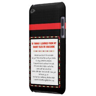 Les choses drôles ont appris de Basset Bleu de Gas Coques iPod Case-Mate