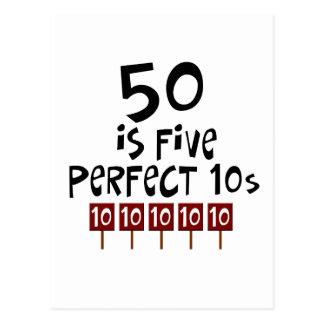 les cinquantième cadeaux d anniversaire 50 est 5 carte postale
