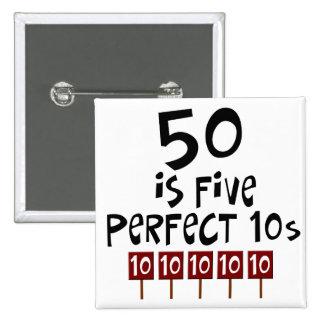 les cinquantième cadeaux d'anniversaire, 50 est 5  macaron carré 5 cm