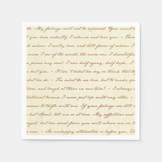 Les citations de meilleur de Jane Austen Serviette En Papier