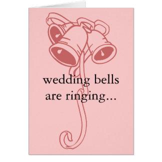 """les """"cloches de mariage sonnent… """"l'invitation de  carte de vœux"""