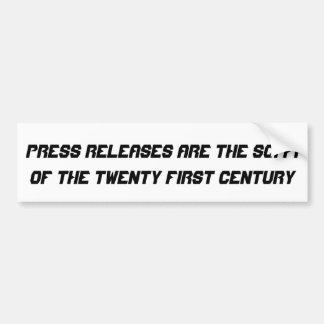 Les communiqués de presse sont les SCI fi… Autocollant De Voiture