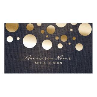 Les confettis chics d'or pointillent l'artiste et carte de visite