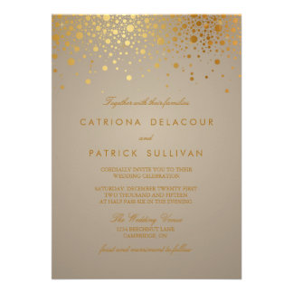 Les confettis de feuille d or de Faux pointillent