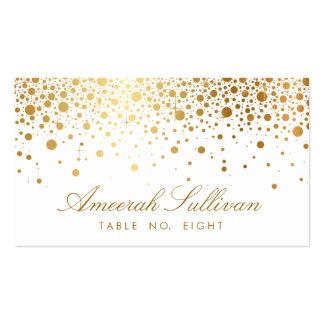 Les confettis de feuille d'or de Faux pointillent Modèles De Cartes De Visite