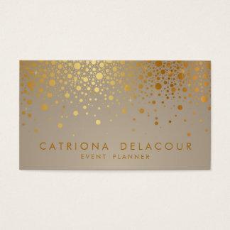 Les confettis de feuille d'or de Faux pointillent Cartes De Visite