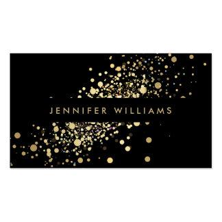 Les confettis d'or de Faux pointillent Carte De Visite Standard