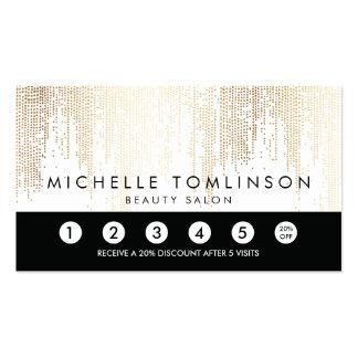 Les confettis élégants d'or de Faux pointillent la Carte De Visite Standard