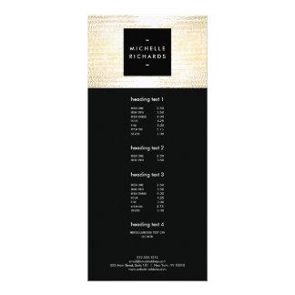 Les confettis élégants d'or de Faux pointillent la Cartons D'informations 10 Cm X 22,9 Cm