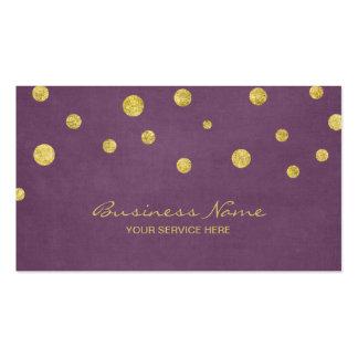 Les confettis modernes de scintillement d'or carte de visite standard