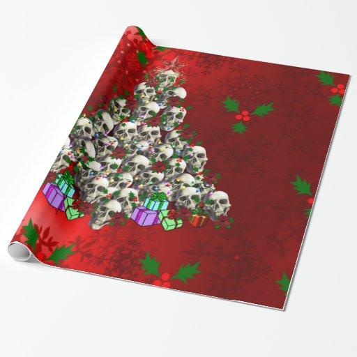 Les crânes de Noël Papiers Cadeaux Noël