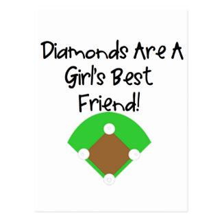 Les diamants sont le meilleur ami d'une fille ! carte postale