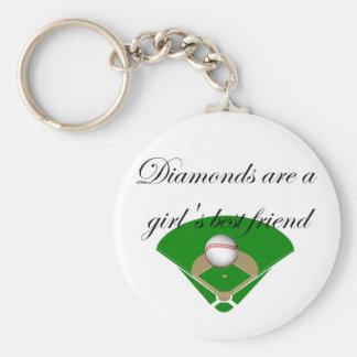 Les diamants sont le T-shirts du meilleur ami d'un Porte-clé Rond