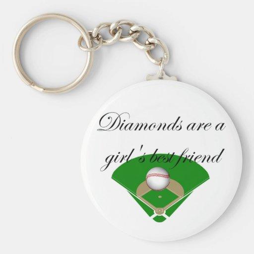 Les diamants sont le T-shirts du meilleur ami d'un Porte-clé