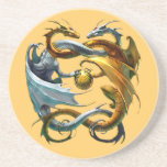 Les dragons jouent au ballon - drink coaster