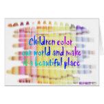 les enfants colorent notre monde cartes