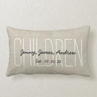 Les enfants de toile de regard ont personnalisé le oreiller