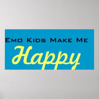 Les enfants d'Emo me rendent heureux Poster