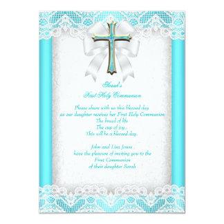 Les ?ères filles de la première sainte communion carton d'invitation  11,43 cm x 15,87 cm