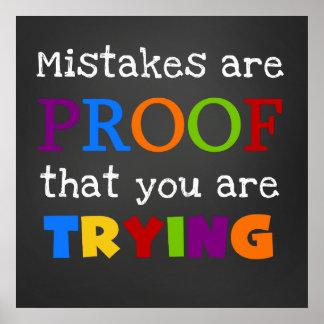 Les erreurs sont preuve que vous essayez l'affiche