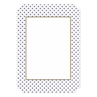 Les Etats-Unis marquent les étoiles bleues sur le Carton D'invitation 12,7 Cm X 17,78 Cm