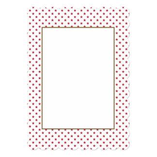 Les Etats-Unis marquent les étoiles rouges sur les Carton D'invitation 12,7 Cm X 17,78 Cm