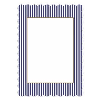 Les Etats-Unis marquent les rayures bleues et Carton D'invitation 12,7 Cm X 17,78 Cm