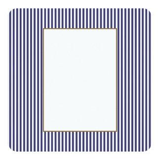 Les Etats-Unis marquent les rayures bleues et Carton D'invitation 13,33 Cm