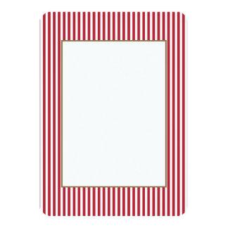 Les Etats-Unis marquent les rayures rouges et Carton D'invitation 11,43 Cm X 15,87 Cm